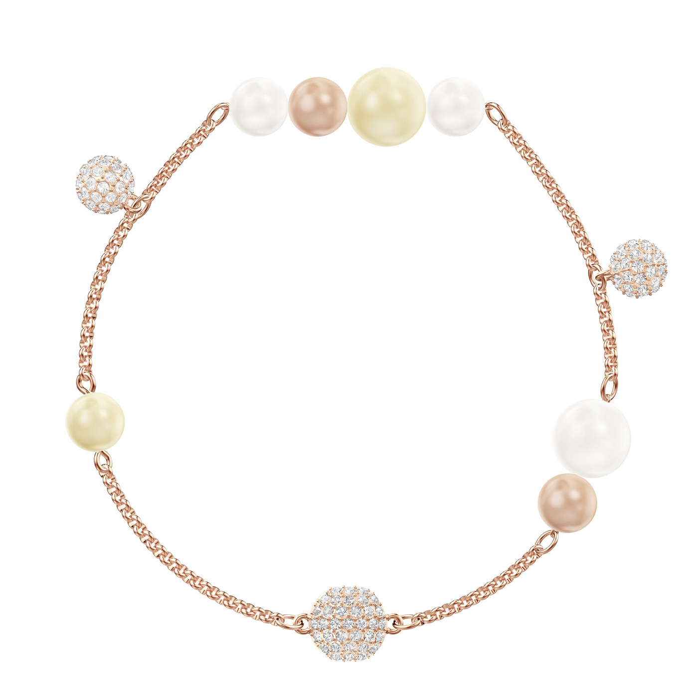 Swarovski Remix Strand Pearl Armband (längd  18.00-18.50 cm) - Smycken 2aba95c87cb11
