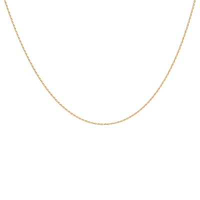 ANNA + NINA 925 Sterling Zilveren Essentials Twisted Plain Goudkleurige Ketting 011728GP0000 (Lengte: 42.00 cm)