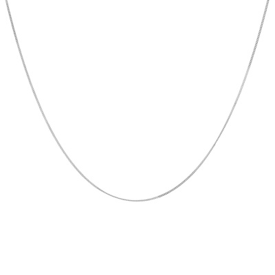 ANNA + NINA 925 Sterling Zilveren Essentials Plain Medium Ketting 18-2M903031S (Lengte: 47.00 cm)