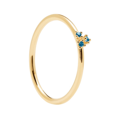 P D Paola 925 Sterling Zilveren Blossom Daisy Gold Ring AN01-183