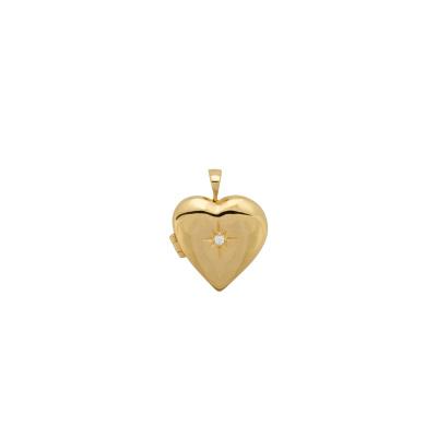 ANNA + NINA 925 Sterling Zilveren Heart of Gold Ketting Bedel 21-1M904013GP