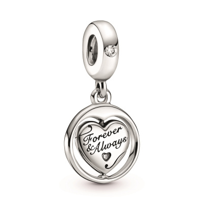 Pandora People 925 Sterling Zilveren Spinning Forever & Always Soulmate Bedel 799266C01