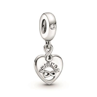 Pandora People 925 Sterling Zilveren Friends Forever Heart Bedel 799294C01