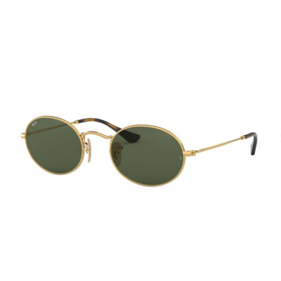 Ray-Ban Oval Flat Lenses Green Classic Zonnebril RB3547N00151