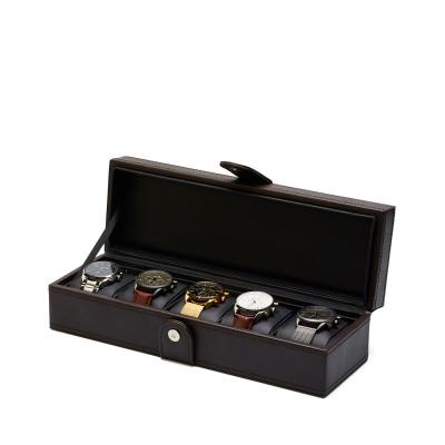 Mats Meier Mont Fort bruine horlogebox voor 5 horloges