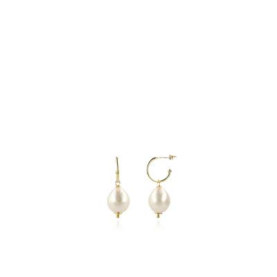 LOTT. gioielli 925 Sterling Zilveren Parelkleurige Oorbellen CEPA510-G15377