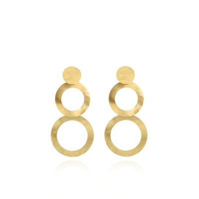 LOTT. Gioielli 925 Sterling Zilveren Goudkleurige Oorbellen CLEA934-G41431