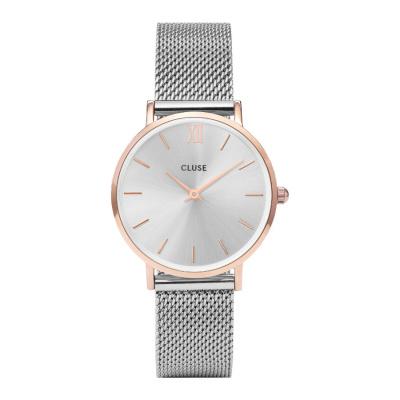 CLUSE Minuit Zilverkleurig Horloge CW0101203004