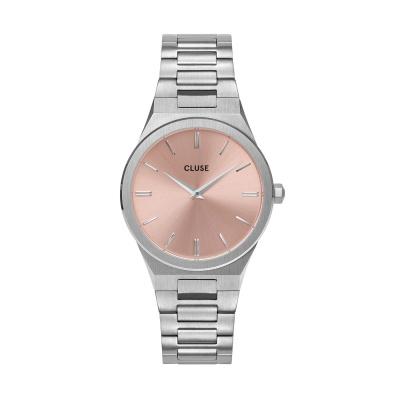 CLUSE Vigoureux Zilverkleurig/Roze horloge CW0101210004