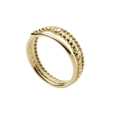 Fossil Vintage Iconic Dames Ring van Roestvrij Staal JF03801710
