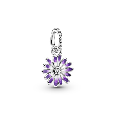 Pandora Garden 925 Sterling Zilveren Purple Daisy Dangle Bedel 798771C01