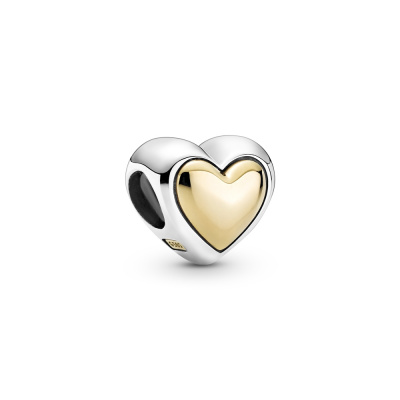 Pandora Passions 925 Sterling Zilveren Domed Golden Heart Hanger 799415C00