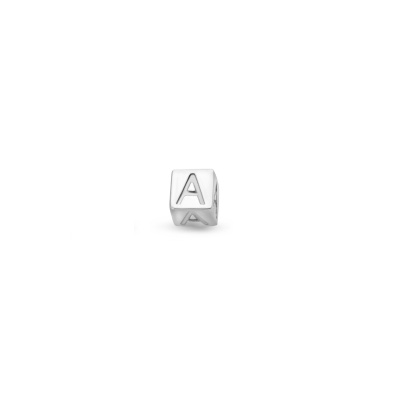 Isabel Bernard Saint Germain Felie 14 Karaat Witgouden Enkele Initial Oorknop IB360078 (Letter: A-Z)
