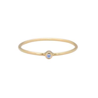 ANNA + NINA 14 Karaat Gouden Solid Gold Birthstone June Ring 19-3M908016G