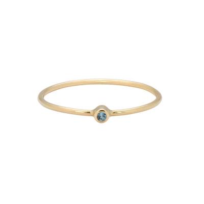 ANNA + NINA 14 Karaat Gouden Solid Gold Birthstone March Ring 19-3M908007G
