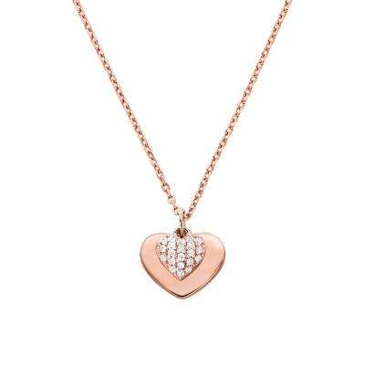 Michael Kors Zilveren Rosegoudkleurige Love Ketting MKC1120AN791 (Lengte: 46.00-51.00 cm)