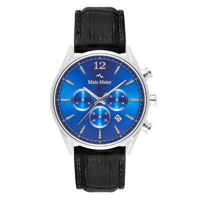 Mats Meier Grand Cornier Chrono Blauw/Zwart horloge MM00112