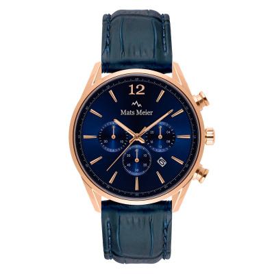 Mats Meier Grand Cornier Blauw Chrono horloge MM00131