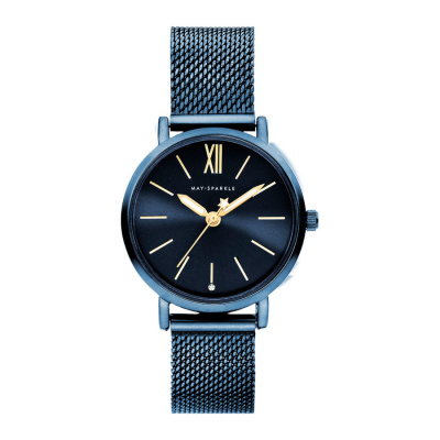 May Sparkle Midnight Sparkle Blauw horloge MSD002