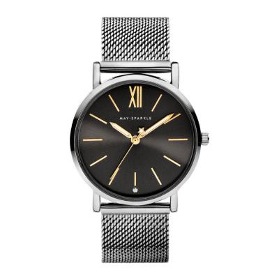 May Sparkle Midnight Sparkle Titanium horloge MSD007