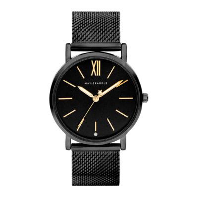 May Sparkle Midnight Sparkle Zwart horloge MSD009
