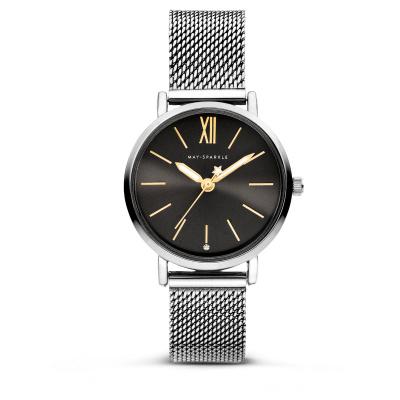 May Sparkle Midnight Sparkle Titanium horloge MSD008
