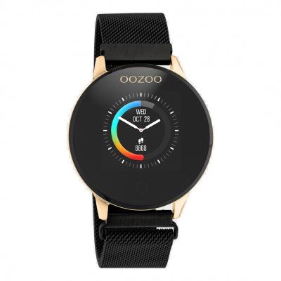 OOZOO Zwart/Roségoudkleurig Display Smartwatch Q00118
