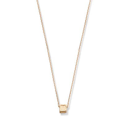 Isabel Bernard La Concorde Felie 14 Karaat Rosé Gouden Ketting Kubus IB340058