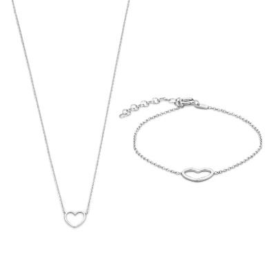 Selected Jewels Selected Gifts 925 sterling zilveren set armband en ketting SJSET1330084