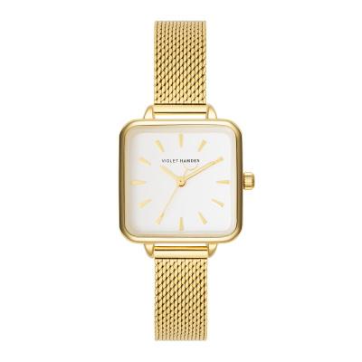 Violet Hamden Dawn Gold Colored/White horloge VH05011
