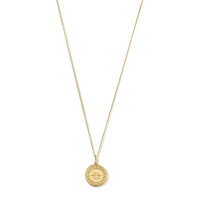Violet Hamden Athens 925 Sterling Zilveren Goudkleurige Ketting VH340001 (Lengte: 40.00-45.00 cm)