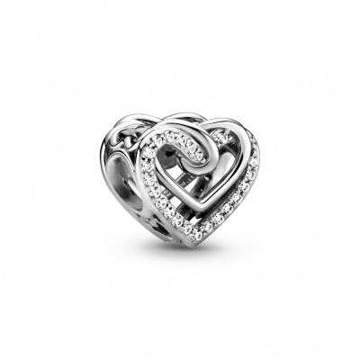 Pandora People 925 Sterling Zilveren Entwined Hearts Bedel 799270C01